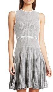 Theory striped knit aline dress